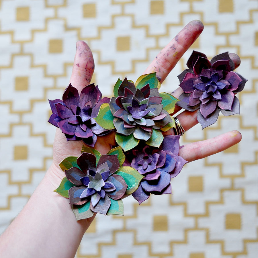 Painted Paper Flowers