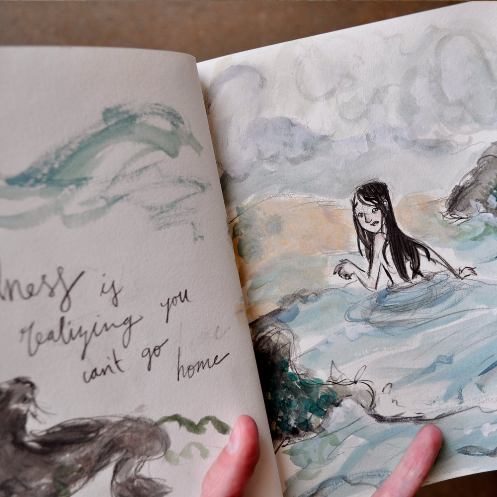 "Ever since I first learned about them (The Secret of Roan Inish, anyone?) I've been somewhat obsessed with selkies. And changlings. Actually when I was a kid I used to think I must be something of the kind, with the incredible draw I felt toward other stories, worlds, and, of course, the sea. I just don't feel at home in this world.⠀ ⠀ Now I know that's because I wasn't made for this world anyway, mythical creature or not.⠀ ⠀ ""If I find in myself desires which nothing in this world can satisfy, the only logical explanation is that I was made for another world.""⠀ -C.S. Lewis, Mere Christianity⠀"