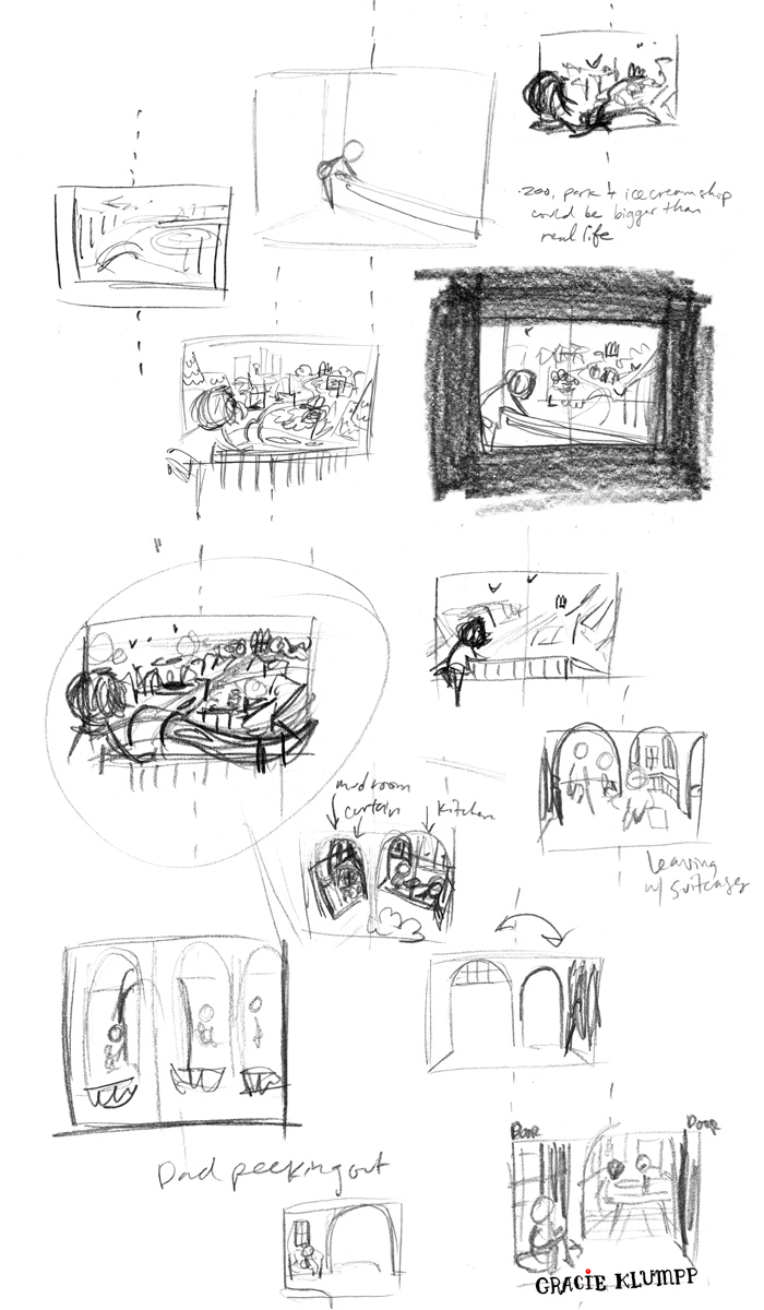 This is just a fraction of the thumbnails I actually did for this spread.