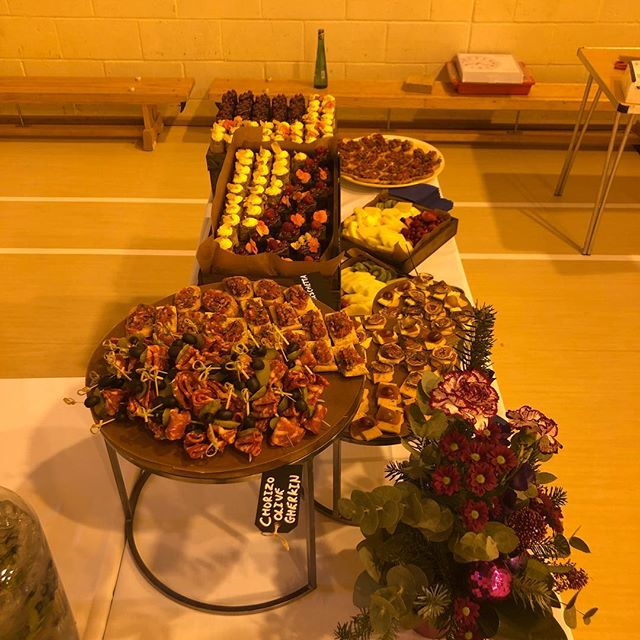 My first parents evening @hoebridgeschool so hopefully I made an impression. On to the next one on Thursday !! @holroydhowe #parentsevening #fingerfood #cakes