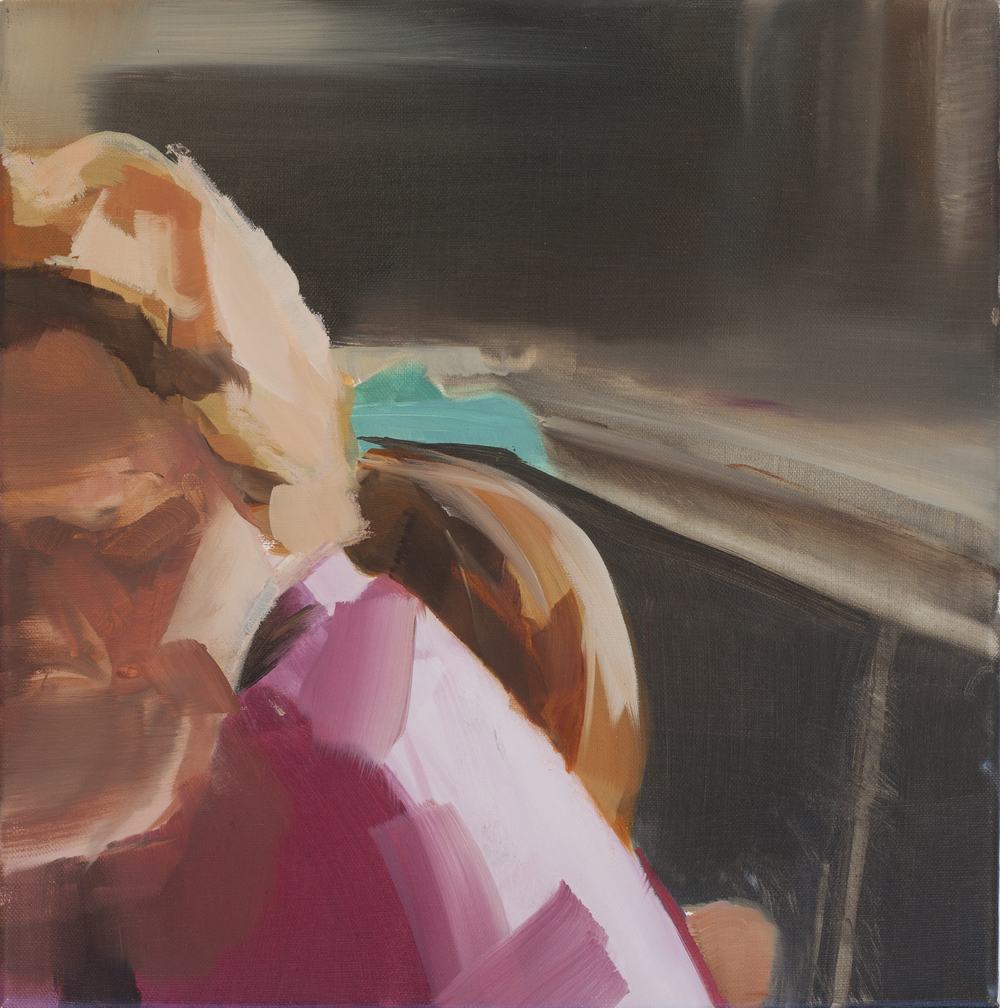 At the Table (Pink) 2015 oil on canvas 40x40cm