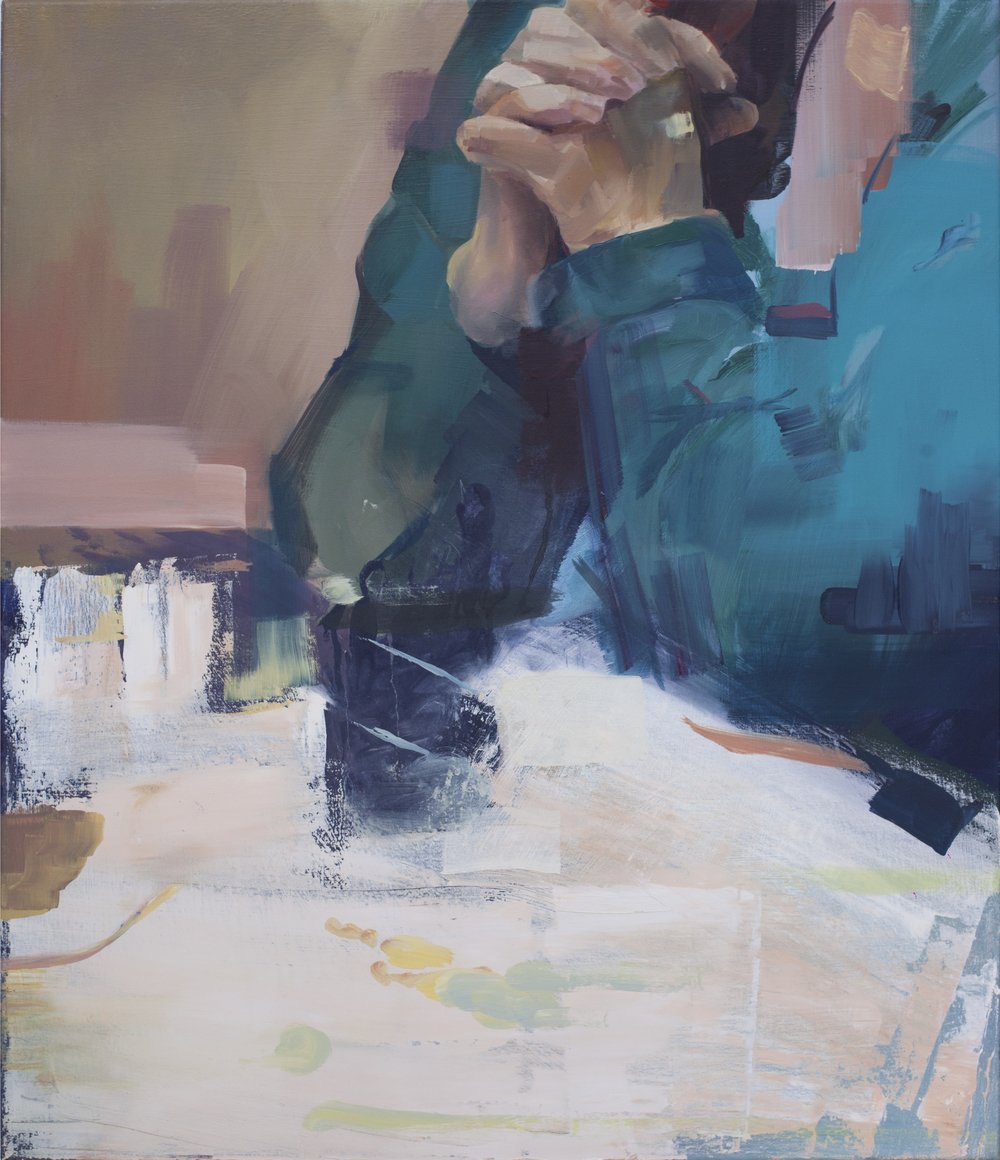 Carefully Nourished Gestures 2015 Oil on Canvas 70 x 60 cm