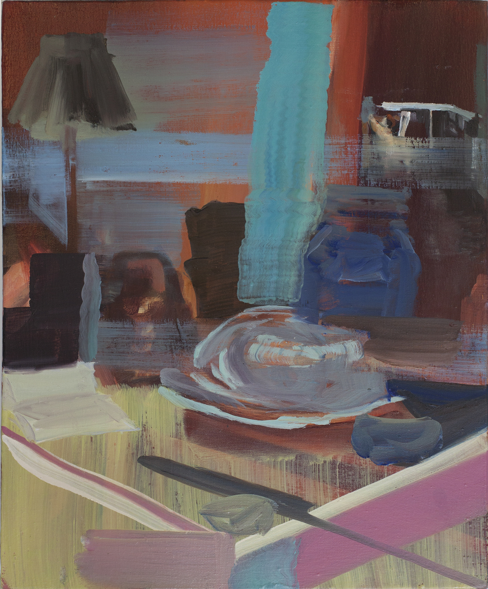 Interior (2015) Oil on canvas. 37 x 31 cm