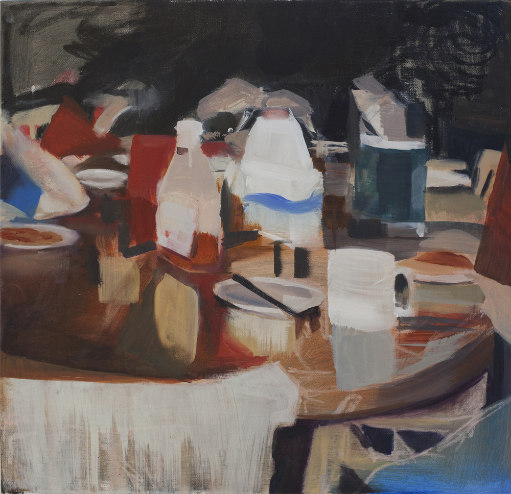 Milk & Ketchup (2014) oil on canvas 50 x 50 cm