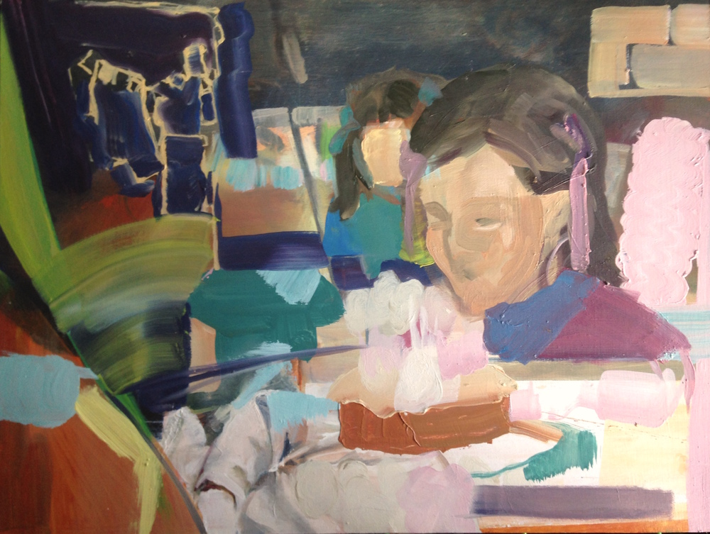 Birthday' (2015) Oil on Board. 39.5cmx 30cm