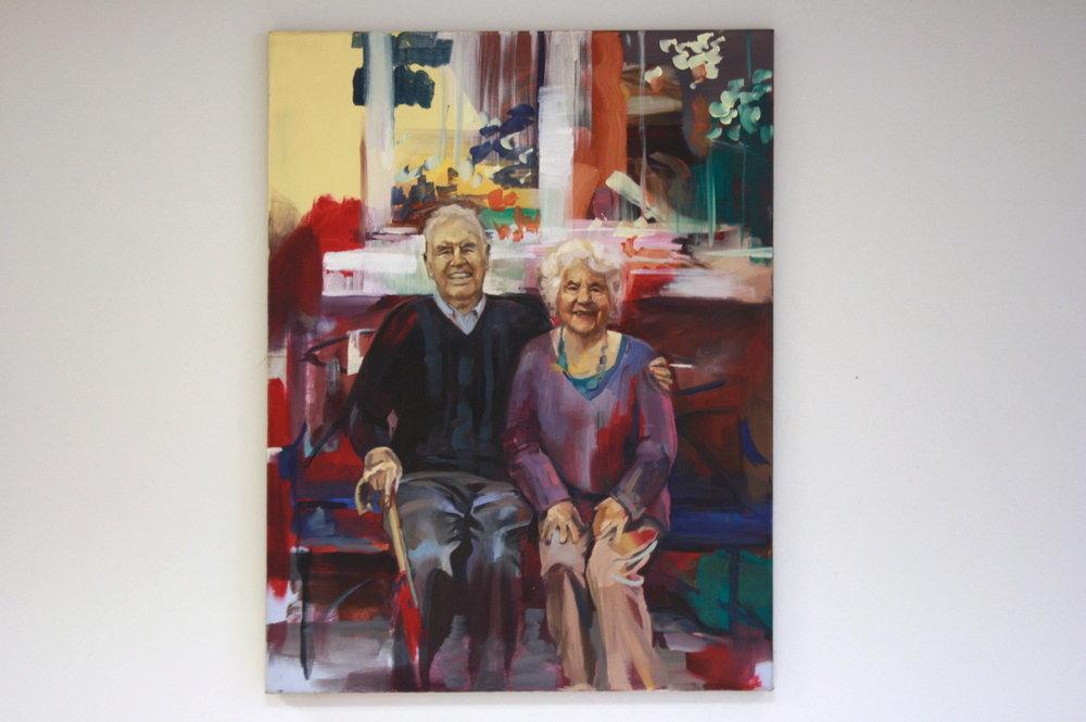 Nana & Granda (2016) Oil on canvas
