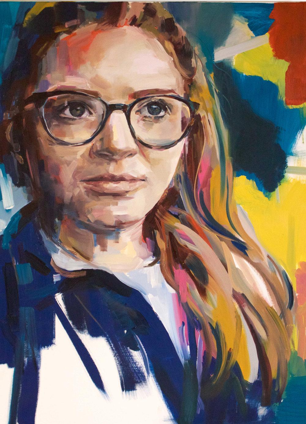 Self Portrait (2017) Oil on Canvas. 70x100cm