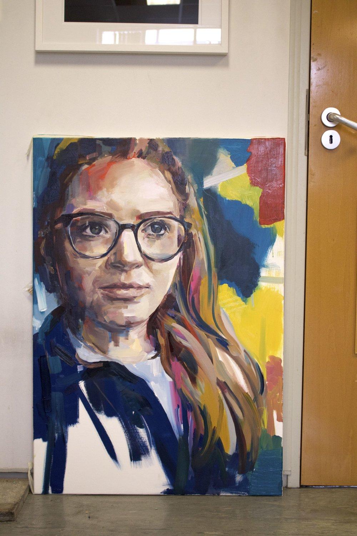 Self Portrait (2017) Oil on Canvas 70 x 100cm
