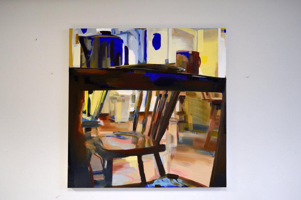 Unceremonious III (2017) Oil on Canvas 100x100cm