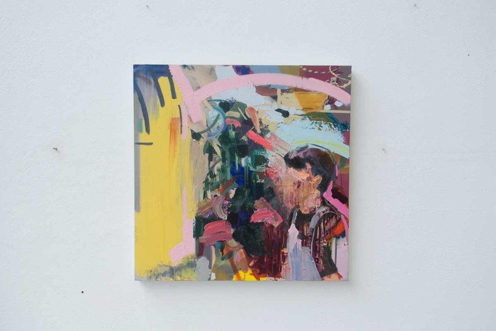 Concrete Mixer. Oil on Canvas. 80 x 80 cm