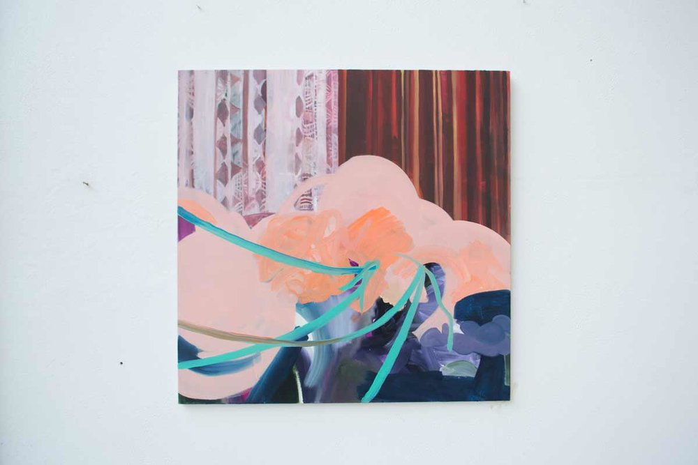 Fabrication. Oil on Canvas. 100 x 100cm