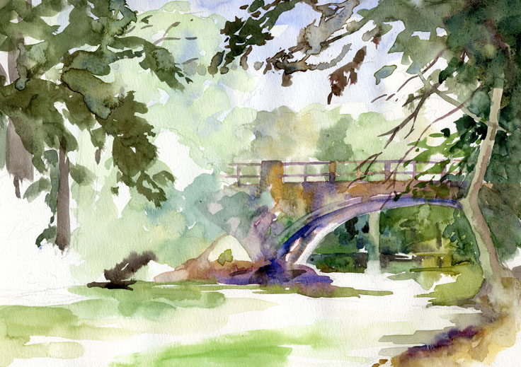 1913 Bridge in Hampton by Doris Ettlinger