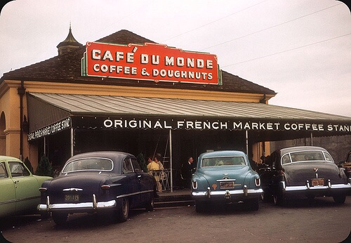 Cafe Du Monde in 1953: Follow this amazing New Orleans vintage blog: vintagenola.tumblr.com