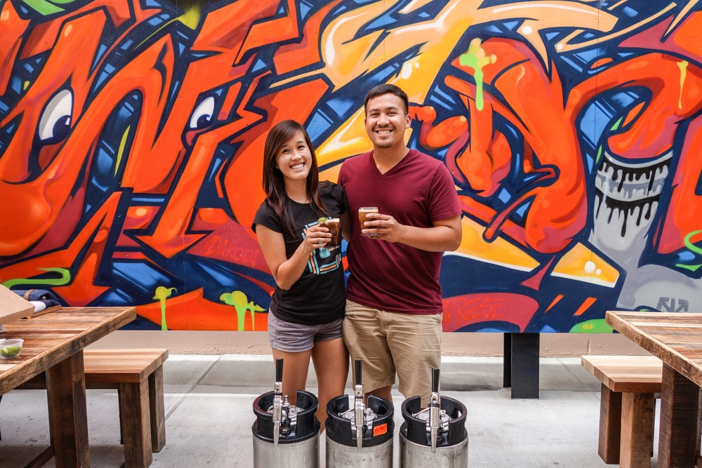 Julie and Paul with three of their many keg babies -a model for the happy, American Nitro Family.