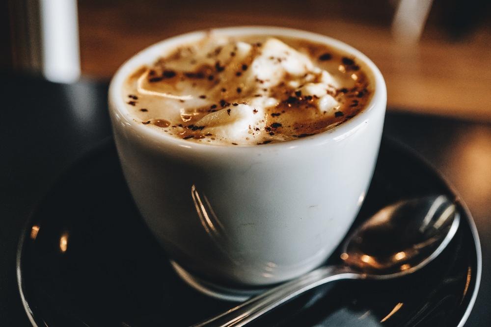 Espresso con Panna : Homemade whip cream, espresso shavings, espresso