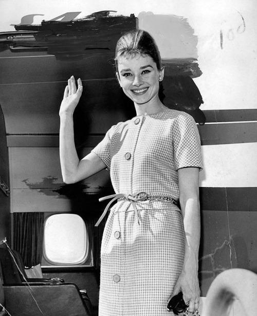 Audrey traveling like a boss