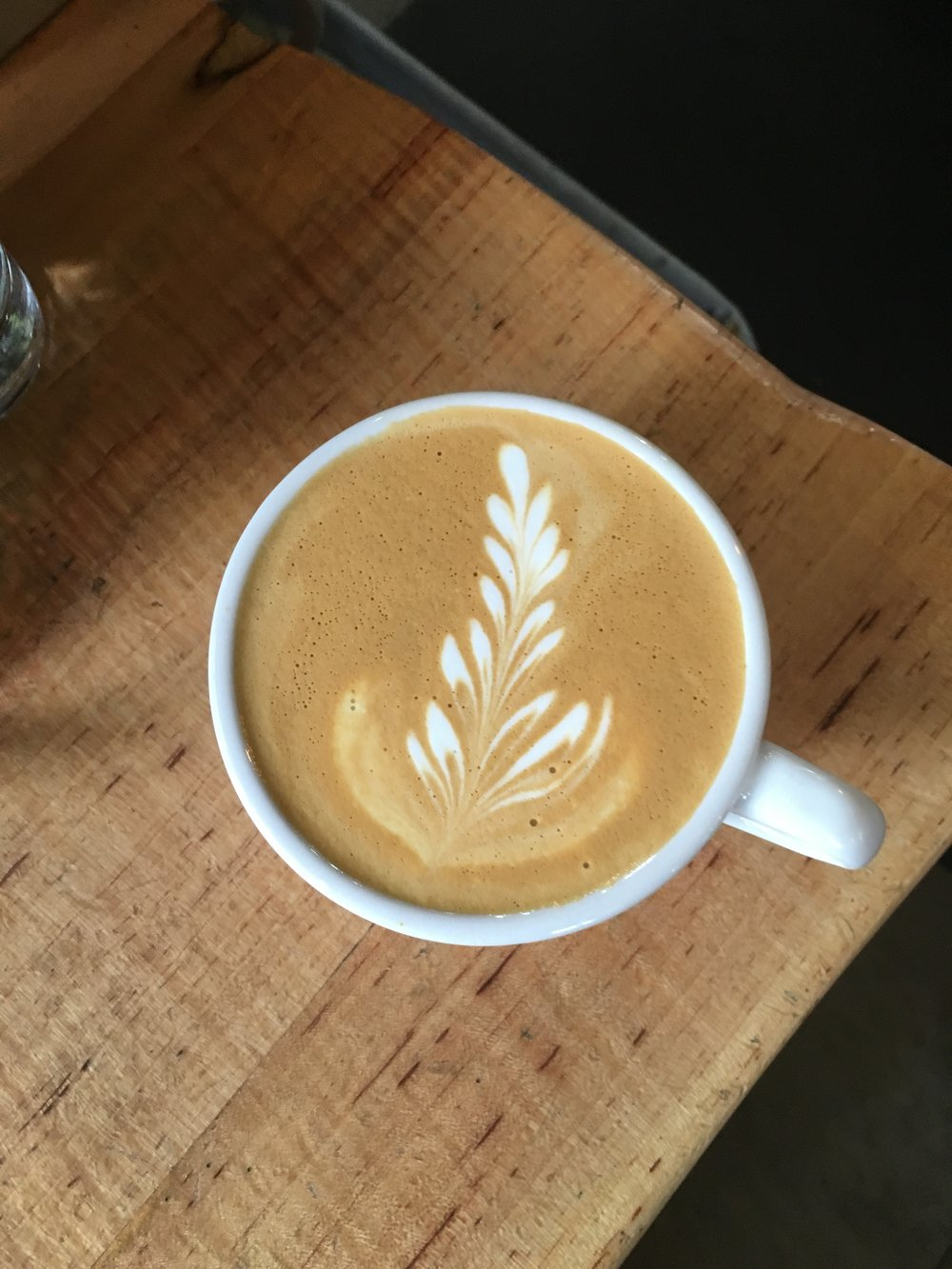 One of my first actually presentable latte art drinks!