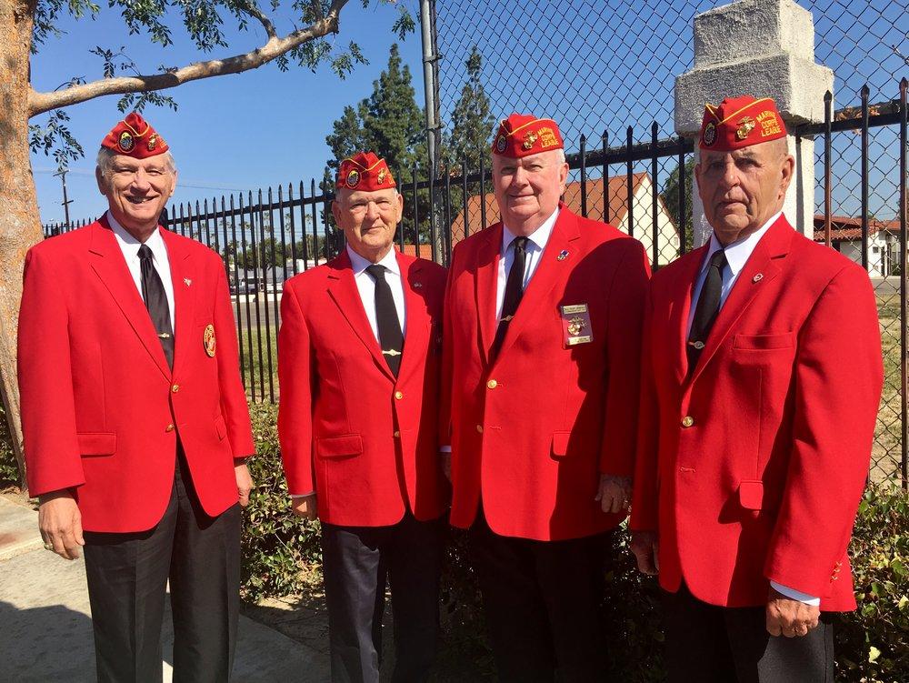 Members of Board at Dedication of Street Named for Fallen Marine