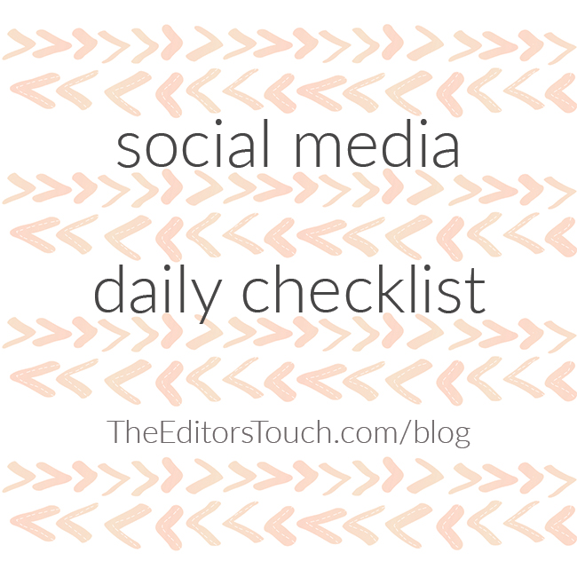 Social Media Daily Checklist