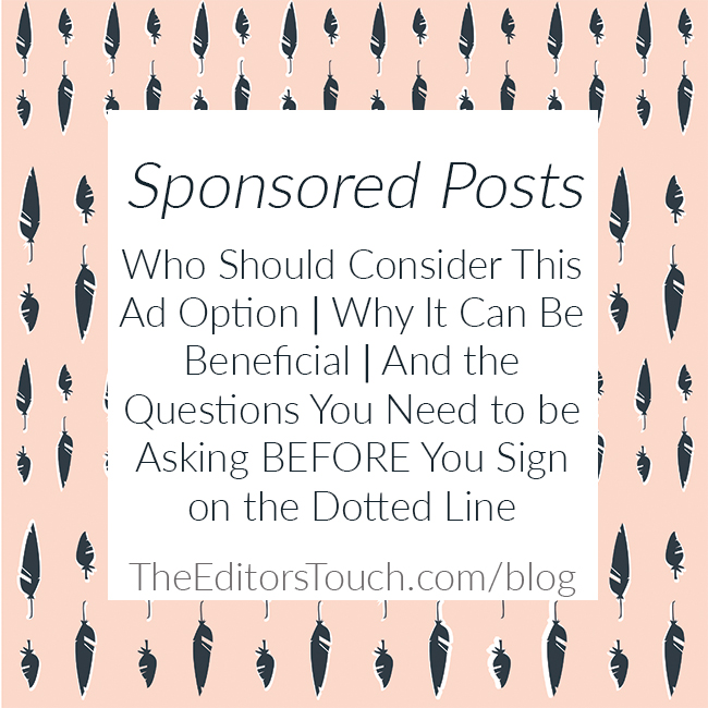 Questions to Ask Before You Purchase a Sponsored Post