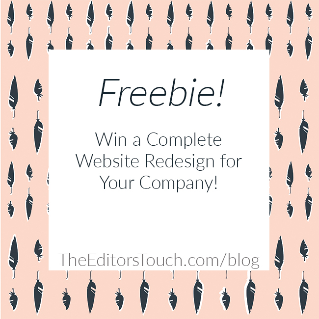 Win A Free Website Redesign | The Editor's Touch