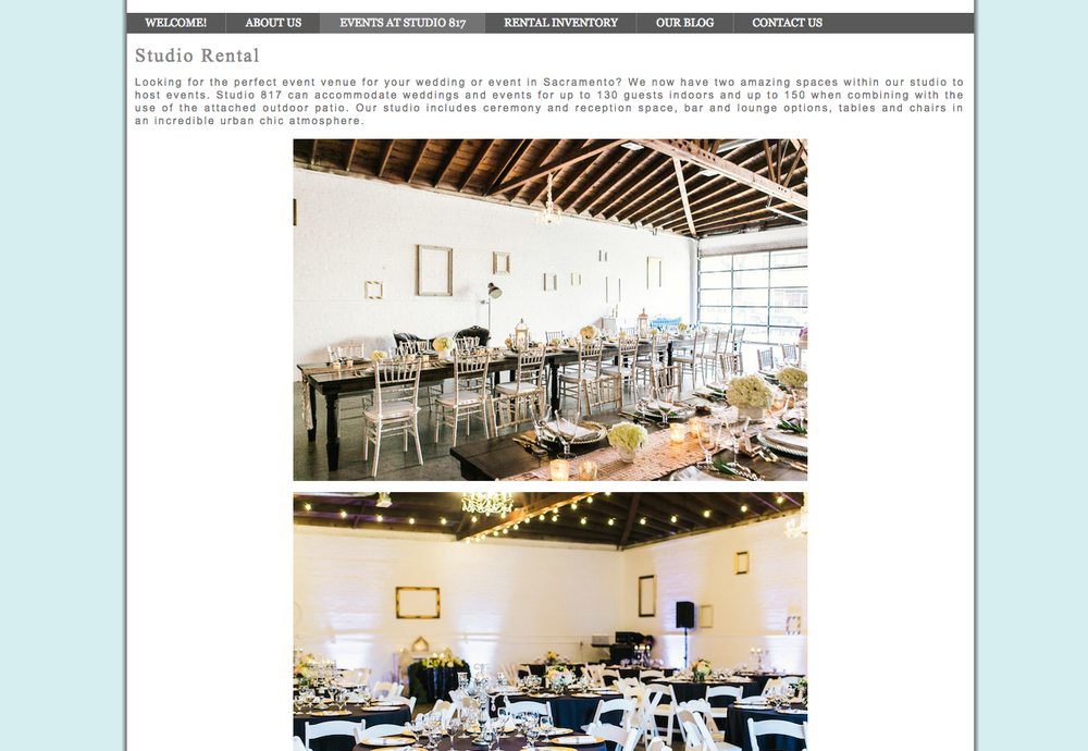Studio 817 | A Sacramento Event and Wedding Venue Rental