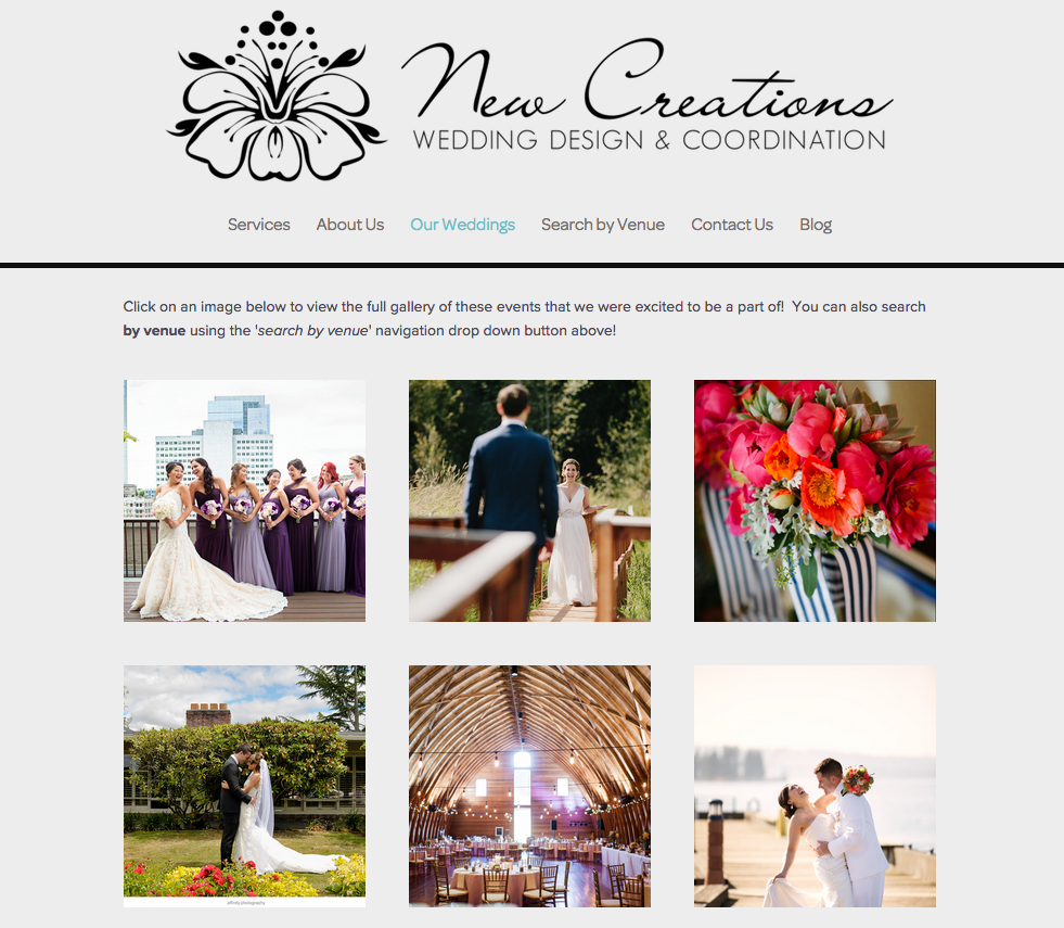 Wedding Website Redesign by Heather Sharpe | The Editor's Touch