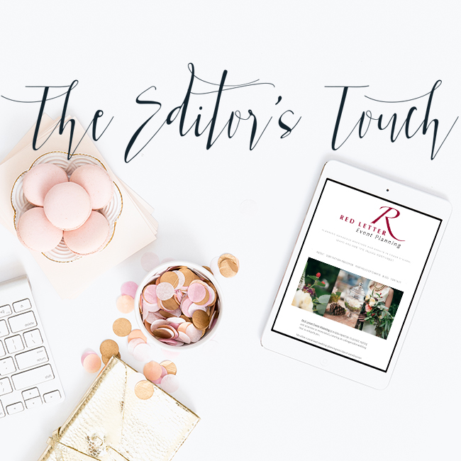 The Editor's Touch | Consultation and Website Design for Wedding and Lifestyle Professionals