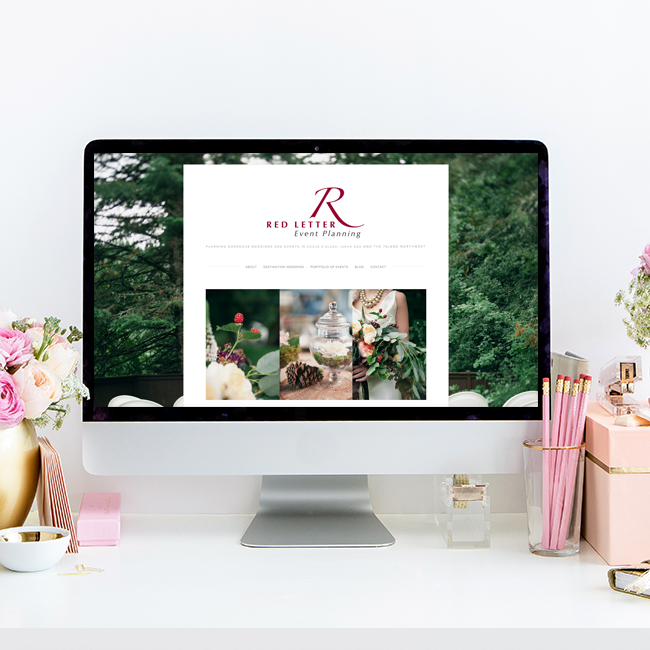 Red Letter Event Planning | Website Design by The Editor's Touch