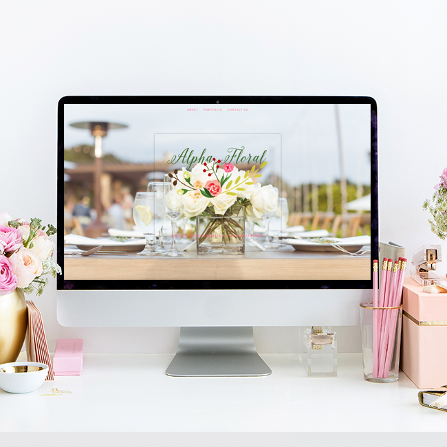 Santa Barbara Wedding Florist Alpha Floral | Website Design by The Editor's Touch