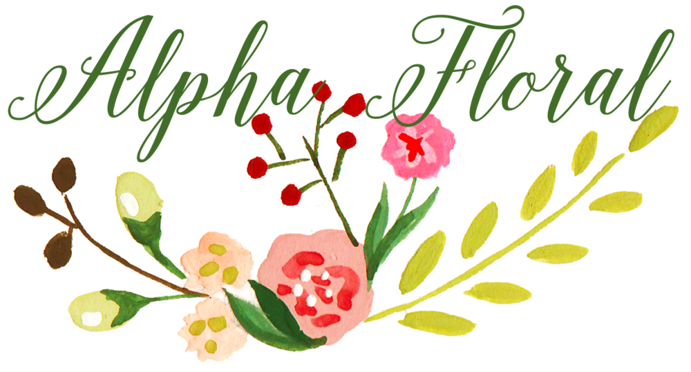 Alpha Floral | Design by The Editor's Touch