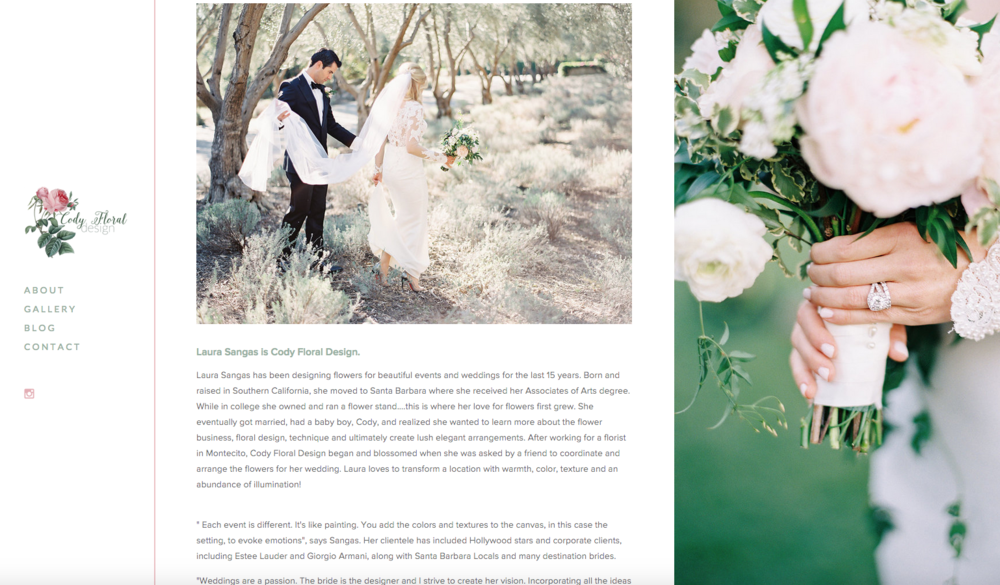 Website Redesign for Cody Floral Design | The Editor's Touch
