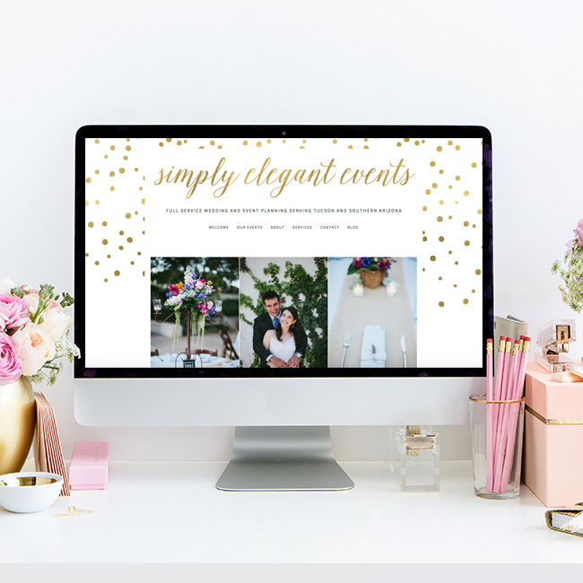 Rebrand and Website Redesign for Simply Elegant Events | Tucson Wedding Planning Company | The Editor's Touch