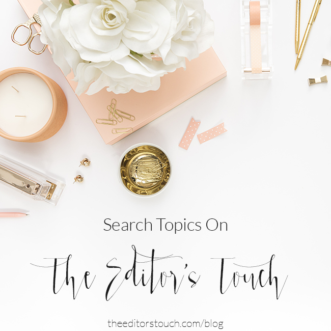 The Editor's Touch | Best Website Design and Wedding Company Advice Blog