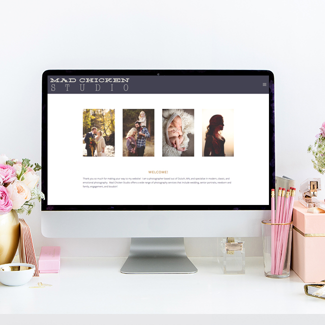 Website Design for Mad Chicken Studio | Heather Sharpe of The Editor's Touch