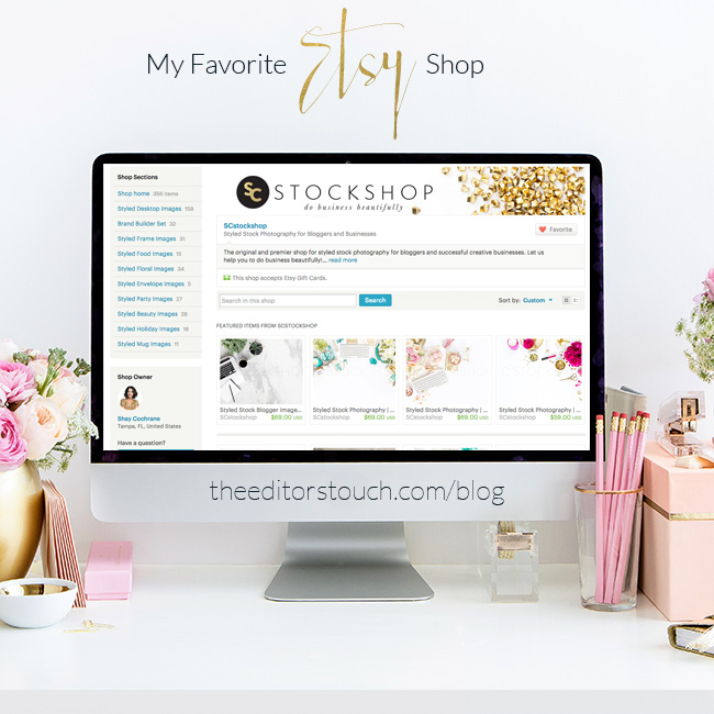 Styled Stock Photography on Etsy For Business Owners | The Editor's Touch | SC Stockshop