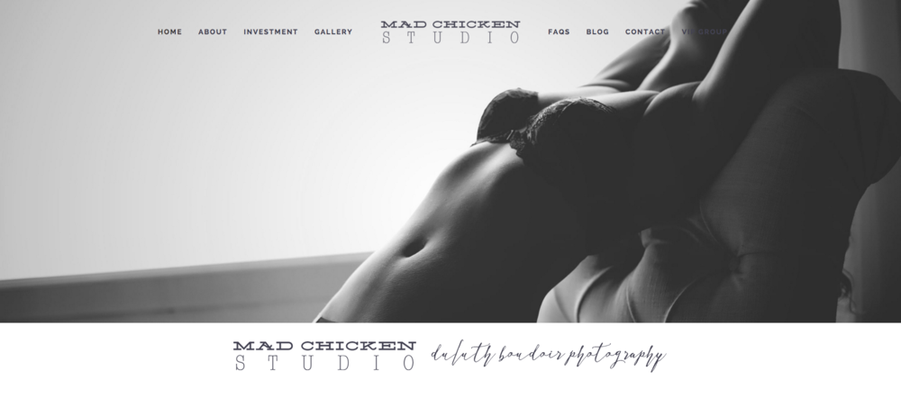 Duluth Boudoir Photography | Mad Chicken Studio | Website Design by Heather Sharpe of The Editor's Touch