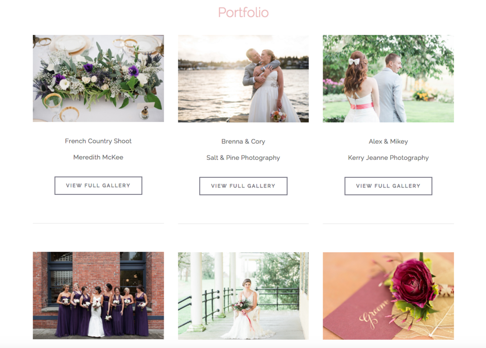 Squarespace Website Design for Wedding Professionals | Wedding Wise Seattle Planning | Design by Heather Sharpe of The Editor's Touch