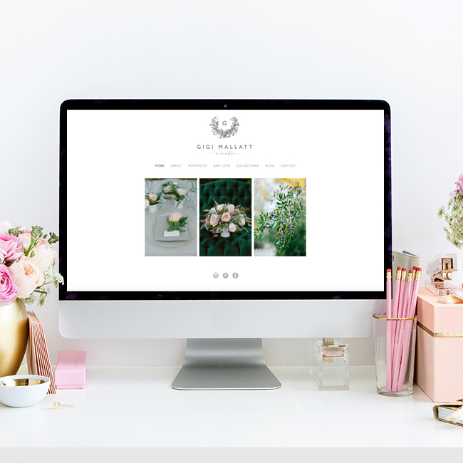 Website Design for Gigi Mallatt Events | Heather Sharpe of The Editor's Touch | Squarespace Website Design for Wedding and Lifestyle Professionals