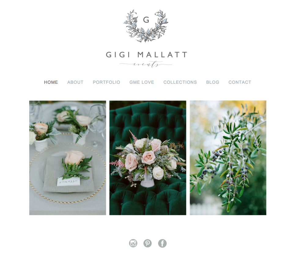 Squarespace Website Design for Wedding and Lifestyle Professionals | Heather Sharpe of The Editor's Touch | Gigi Mallatt Events