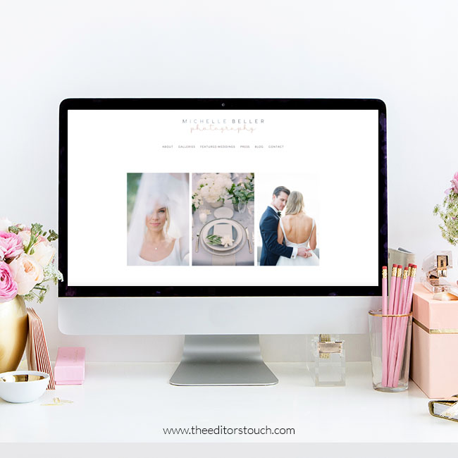 Website Design by The Editor's Touch | Michelle Beller Photography | Squarespace Website Designer