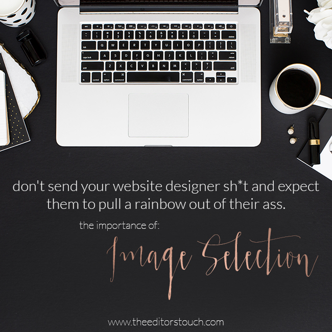 Website Design and Image Selection | Squarespace Website Designer | The Editor's Touch