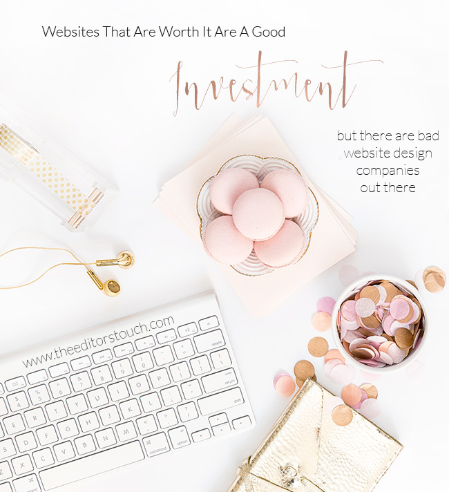 Good Websites Are An Investment | The Editor's Touch