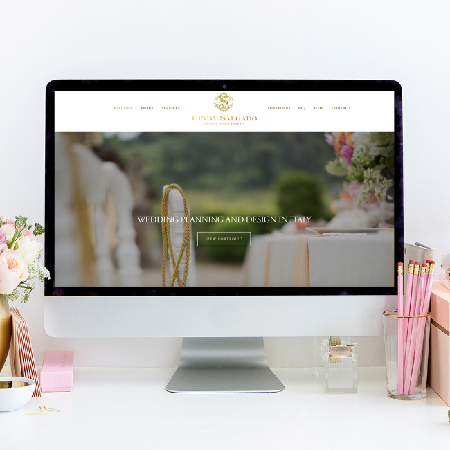 Website Design By Heather Sharpe | The Editor's Touch | Cindy Salgado Events and Design
