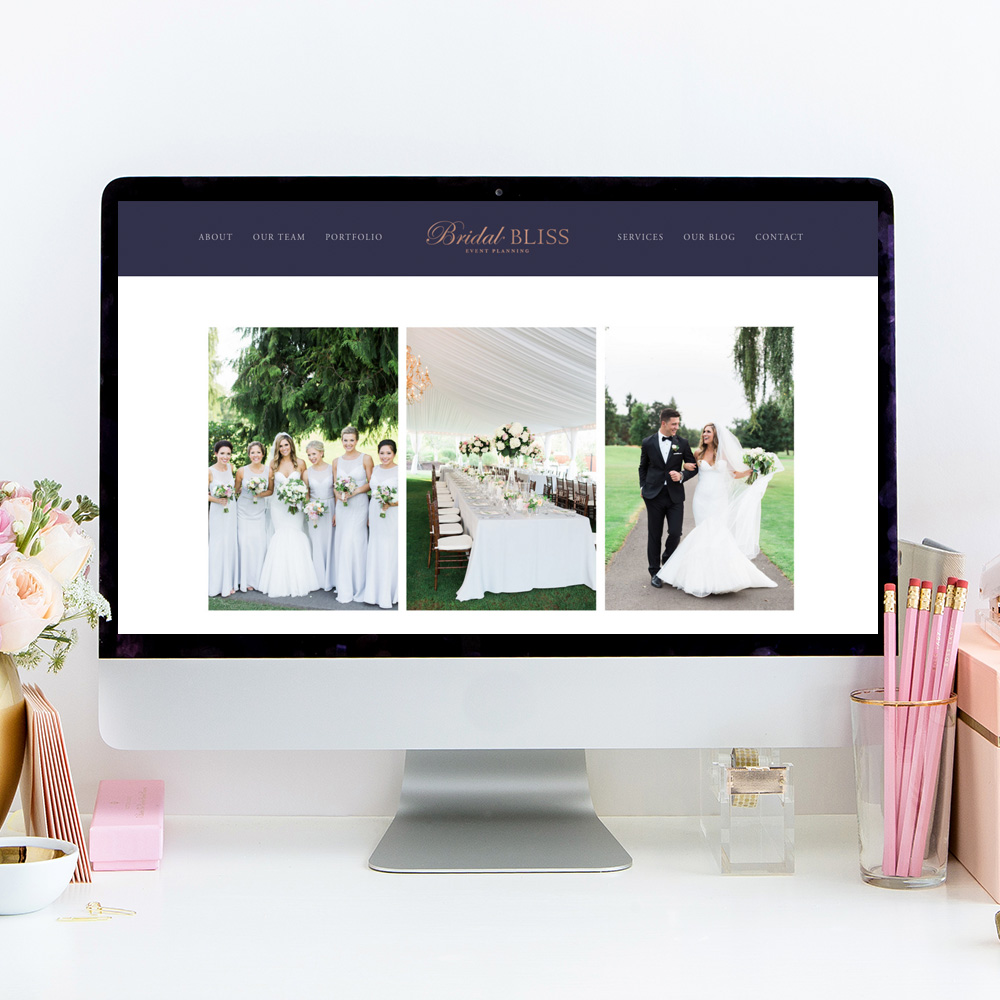 Website Designed by Heather Sharpe of The Editor's Touch | Squarespace Website Designer | Bridal Bliss