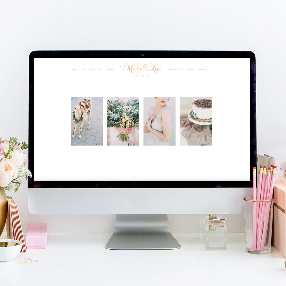 Michelle Leo Events Website Designer | Web Design by Heather Sharpe of The Editor's Touch
