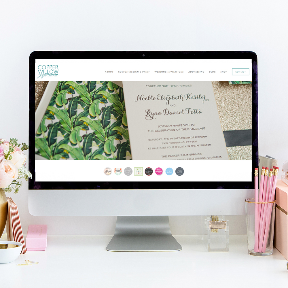 Website Designer for Copper Willow Paper Studio | Heather Sharpe of The Editor's Touch