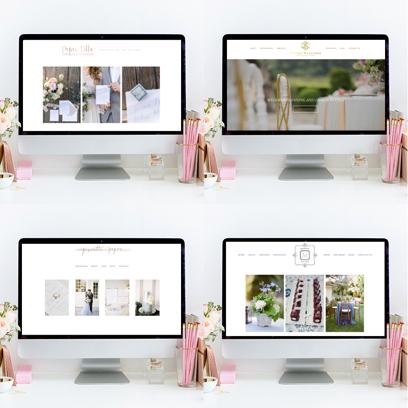 Website Design by Heather Sharpe of The Editor's Touch | Squarespace Web Designer For Wedding Professionals