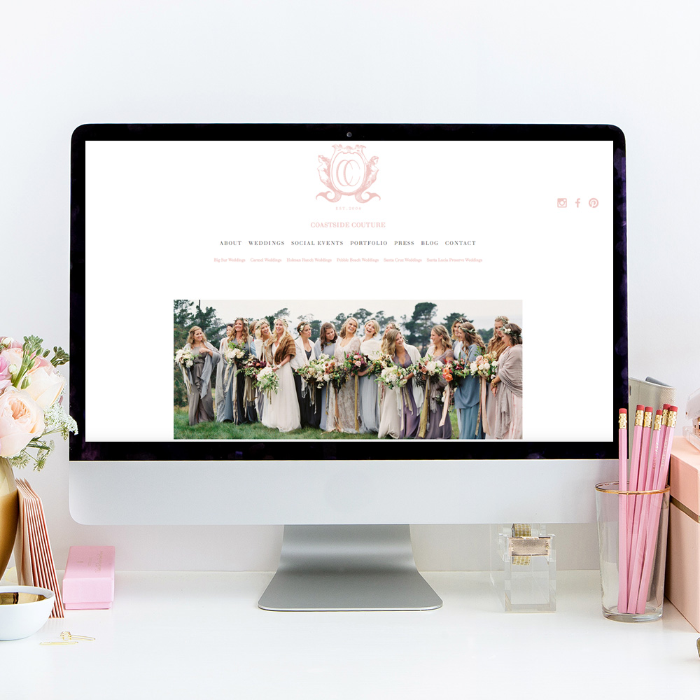 Squarespace Website Designer | Coastside Couture | Heather Sharpe of The Editor's Touch