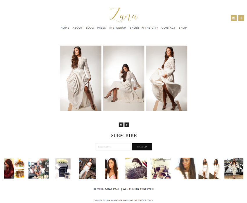 Zana Pali Website Designer Heather Sharpe | The Editor's Touch